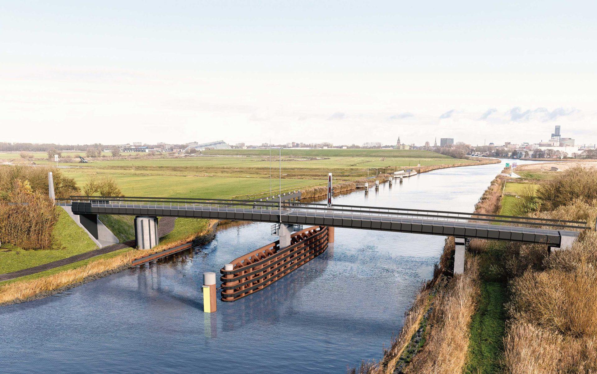 Fryslân krijgt 66m lange beweegbare fietsbrug van biocomposiet