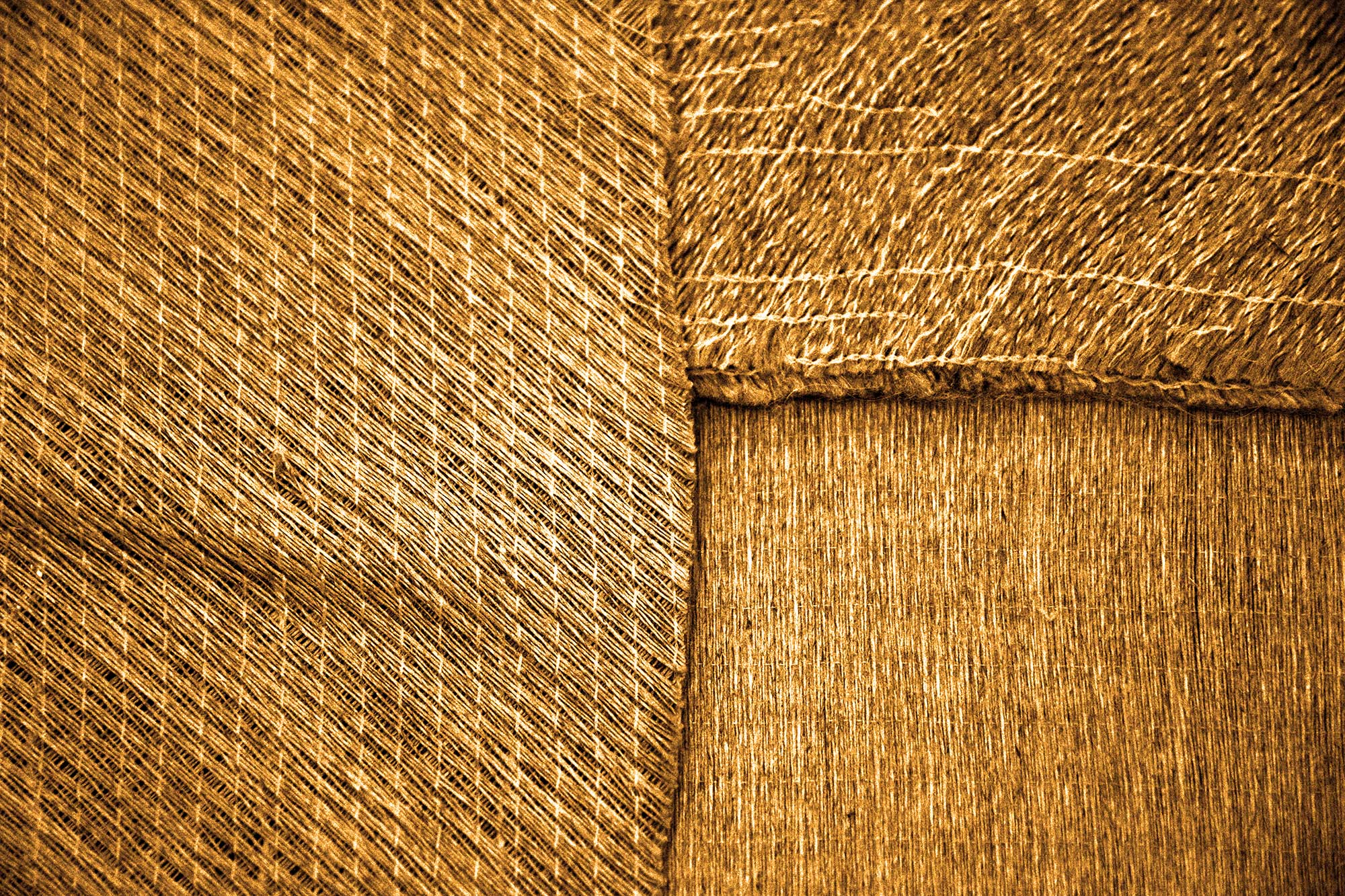 Closeup gewoven vlasvezels