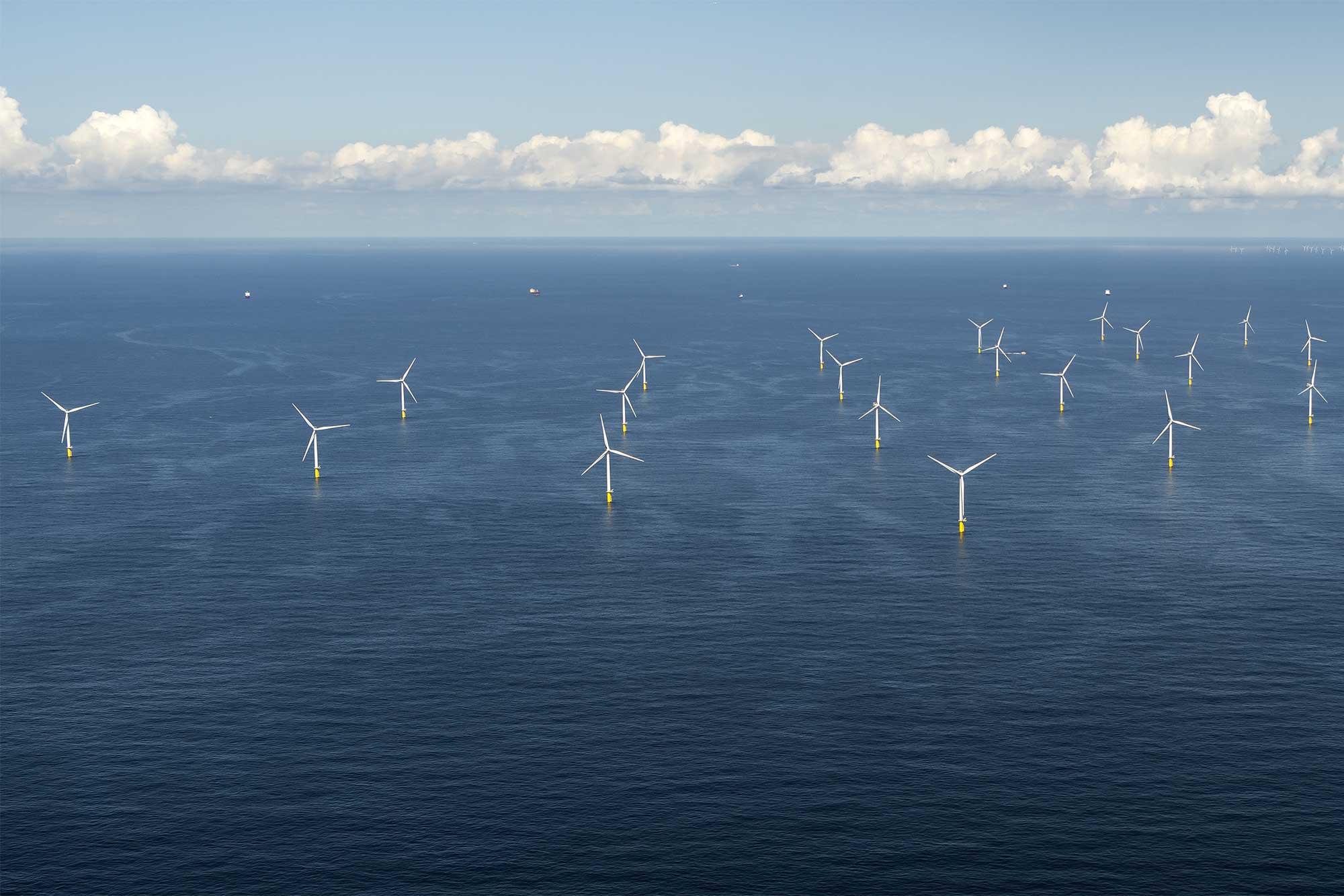 Windmolenpark op de Noordzee