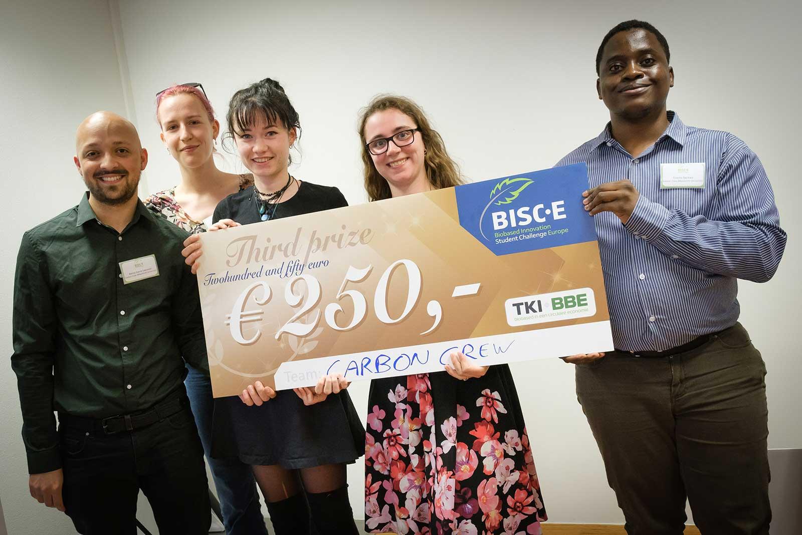 Team Carbon Crew (UM) derde prijs BISC-E NL 2019