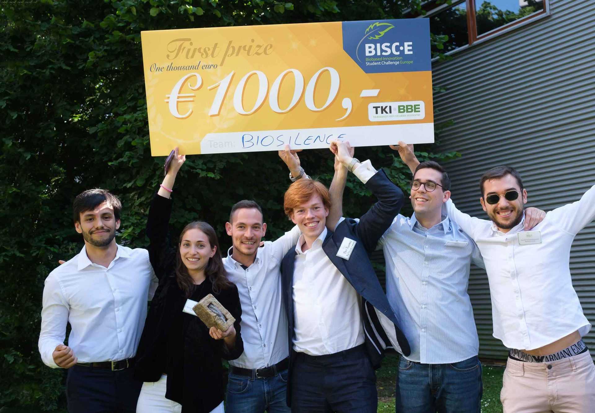 Team Biosilence wint studentencompetitie BISC-E