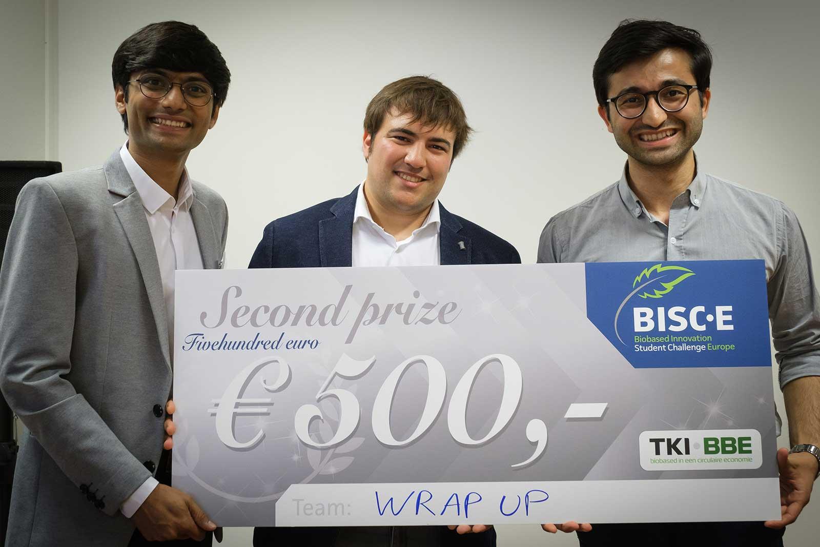 Team Wrap-Up (WUR) tweede prijs BISC-E NL 2019