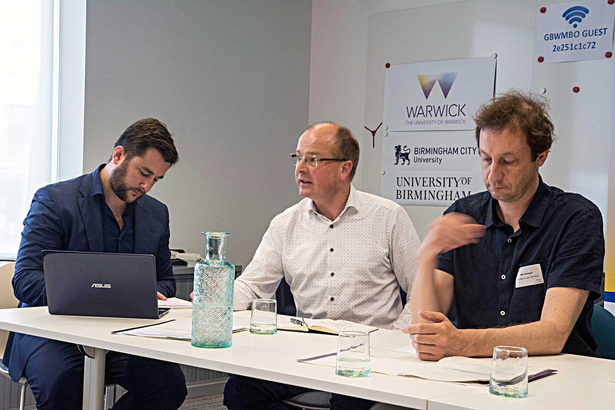 Pierre Padilla, Eric Goossens en Wim Soetaert