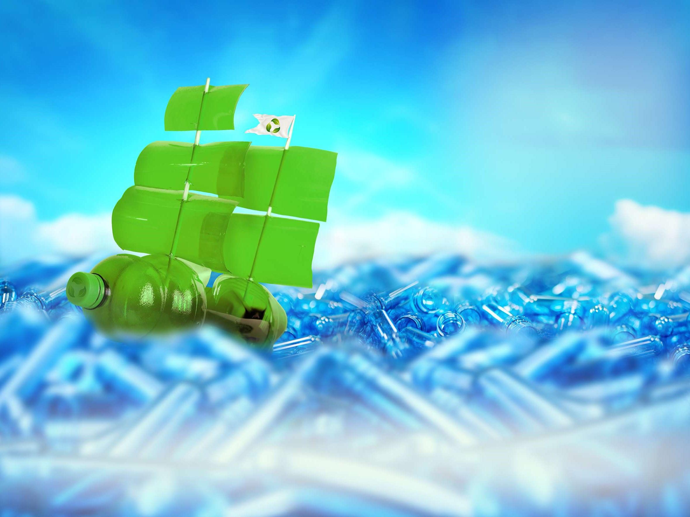Bioplastic schip