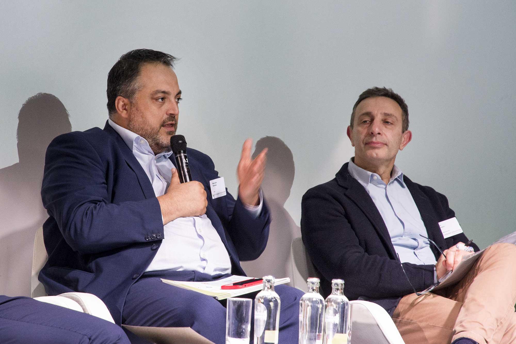 Marcello Somma (Fater), Enzo Favoino (Zero Waste Europe)