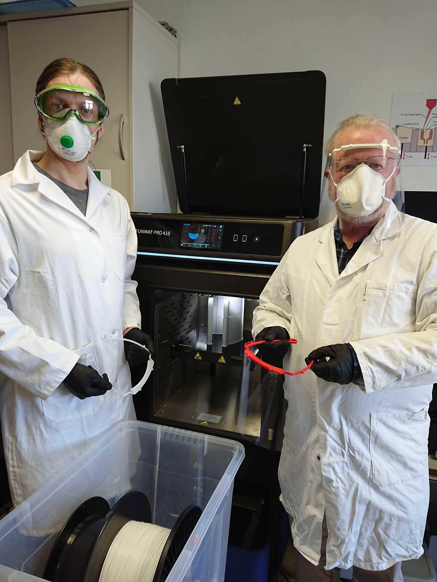 3D geprinte coronamaskers