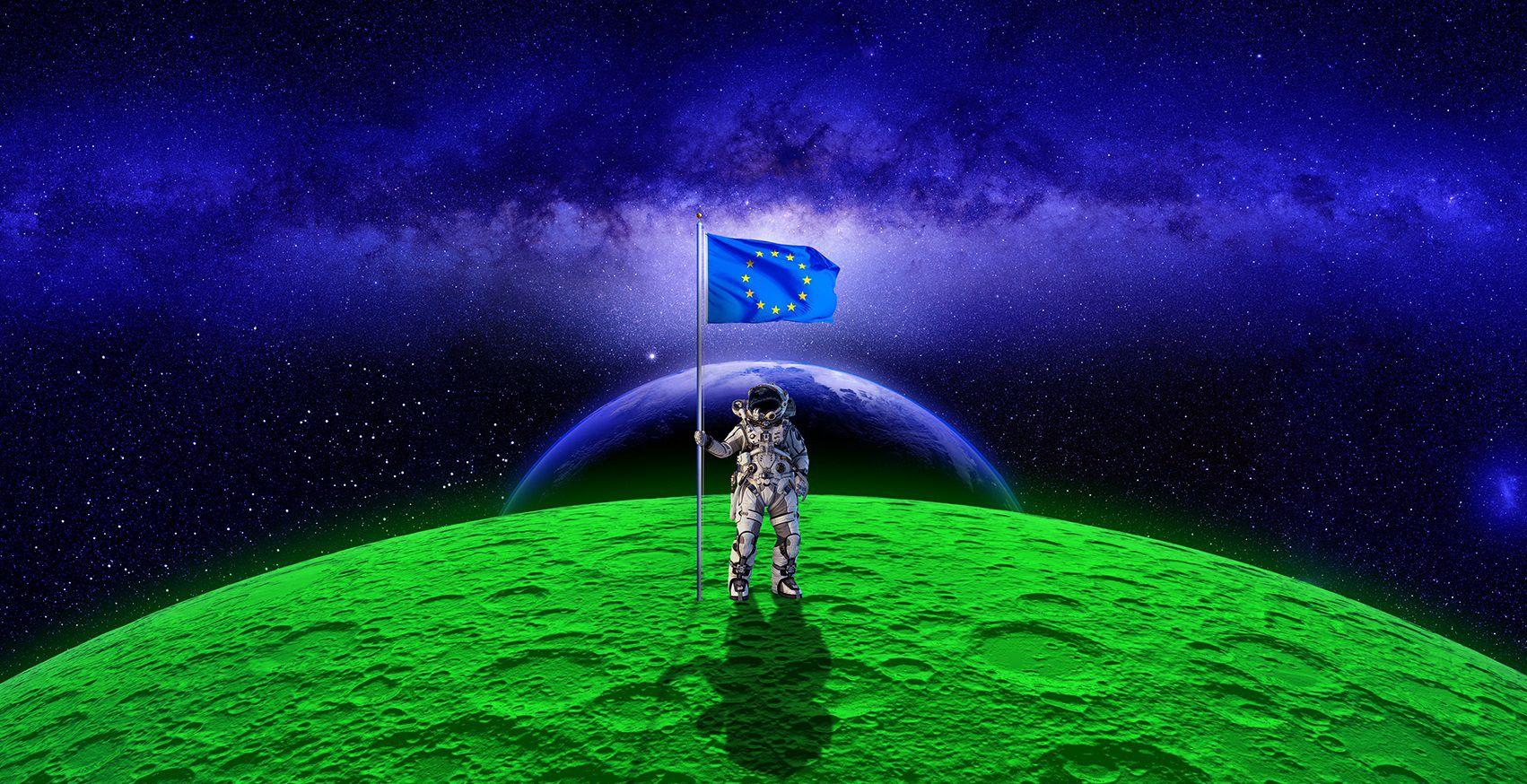 Cover Europese Green Deal Man op de Maan