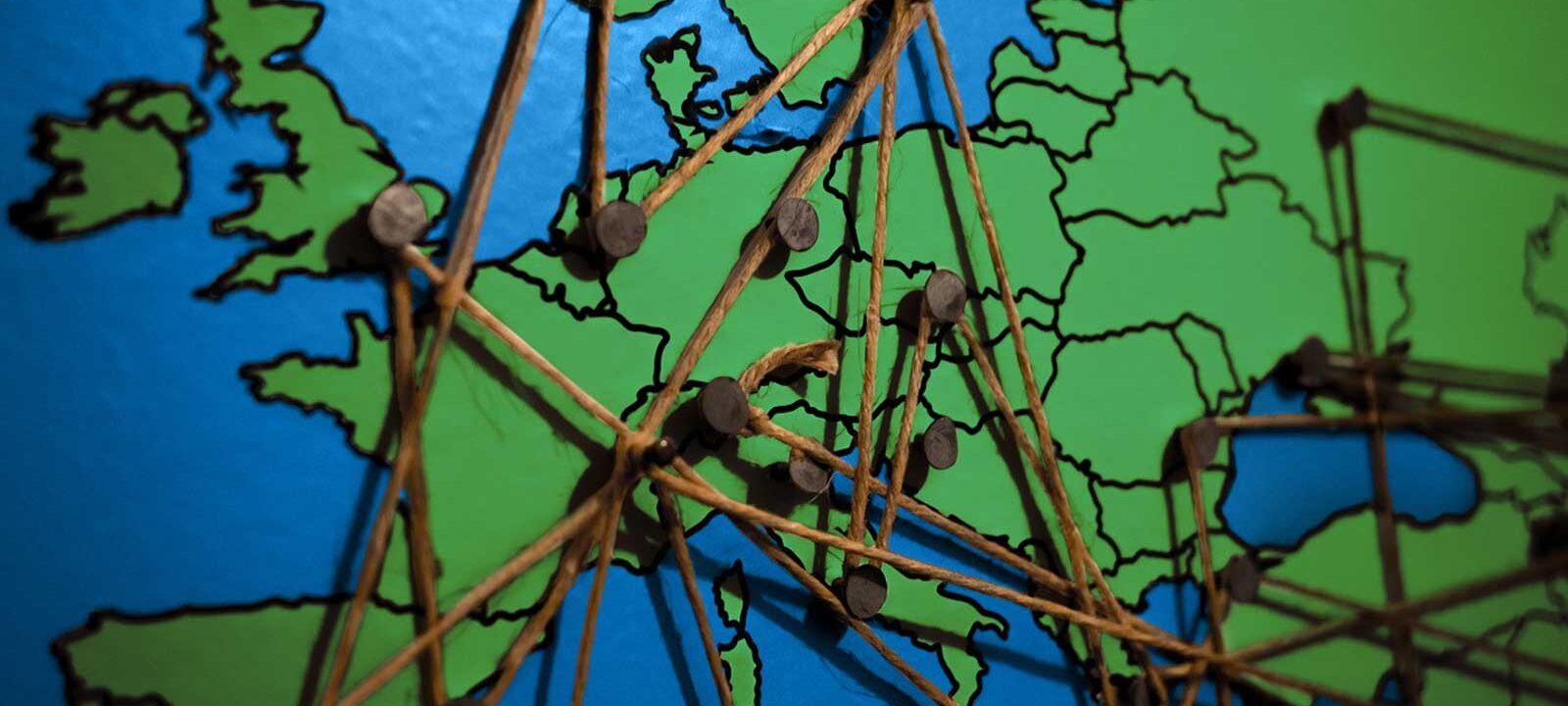 Kaart met interconnecties